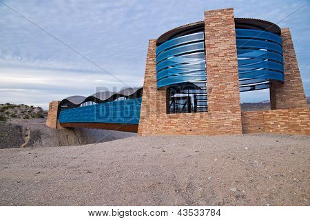 Modern Bridge In The Desert