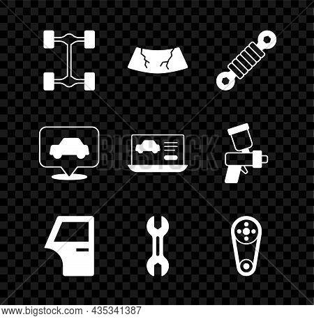 Set Chassis Car, Broken Windshield, Shock Absorber, Car Door, Wrench Spanner, Timing Belt Kit, Servi