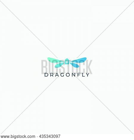 Dragonfly Logo Minimalist Simple Home And Modern