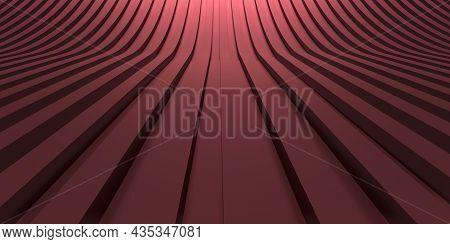 Background Curved Line Scene 3d Illustration Streaked, Abstract, Design