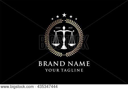 Attorney And Law Logo. Modern Design. Abstract Style.vector Illustration. Law Office, Law Office, La
