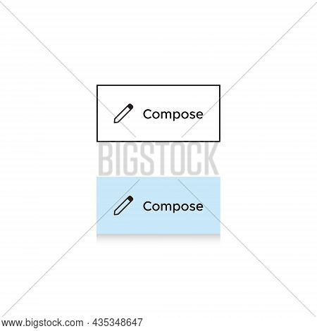 Compose Button Icon Vector Of Email App