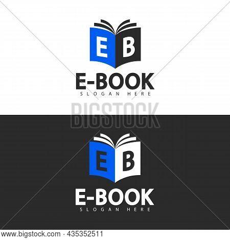 Vector Logo Template. Ebook Shop Logo Design.
