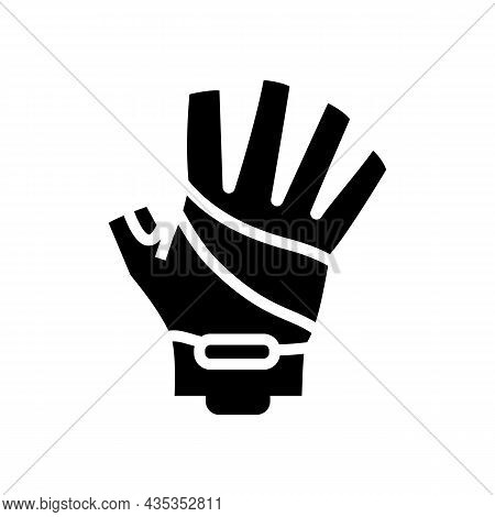 Gloves Cyclist Accessory Glyph Icon Vector. Gloves Cyclist Accessory Sign. Isolated Contour Symbol B