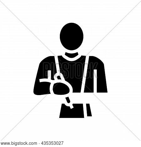 Writer Writing Article Glyph Icon Vector. Writer Writing Article Sign. Isolated Contour Symbol Black