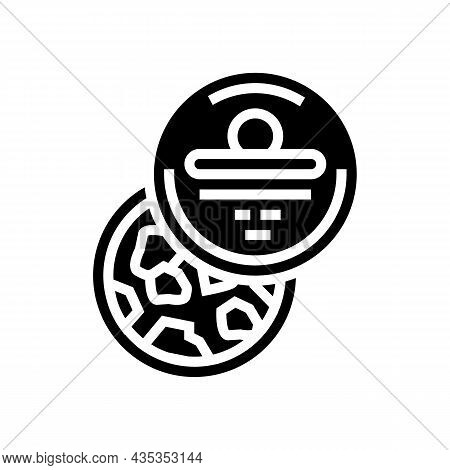 Bath Salt Container Glyph Icon Vector. Bath Salt Container Sign. Isolated Contour Symbol Black Illus