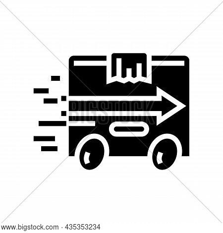 Express Delivery Glyph Icon Vector. Express Delivery Sign. Isolated Contour Symbol Black Illustratio