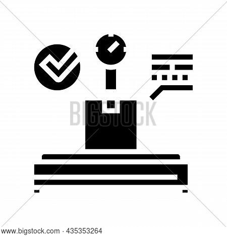 Postal Scale Glyph Icon Vector. Postal Scale Sign. Isolated Contour Symbol Black Illustration