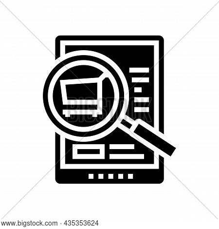 Product Research Glyph Icon Vector. Product Research Sign. Isolated Contour Symbol Black Illustratio