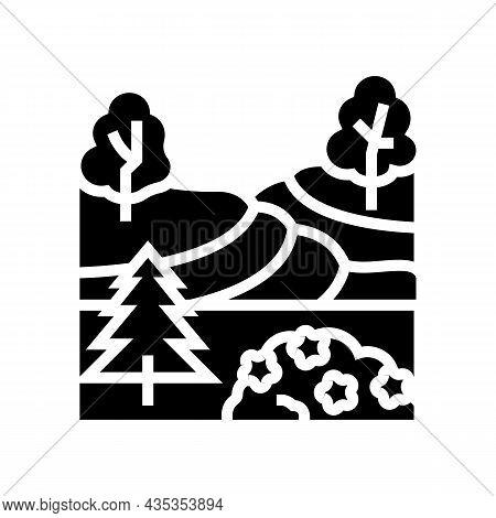Landscape Maintenance Services Glyph Icon Vector. Landscape Maintenance Services Sign. Isolated Cont