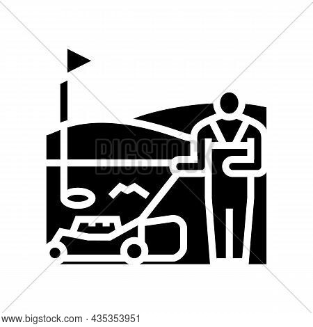 Sports Turf Services Glyph Icon Vector. Sports Turf Services Sign. Isolated Contour Symbol Black Ill