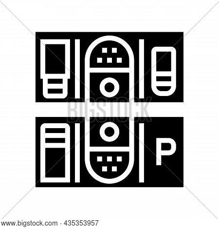 Multi-location Management Services Glyph Icon Vector. Multi-location Management Services Sign. Isola