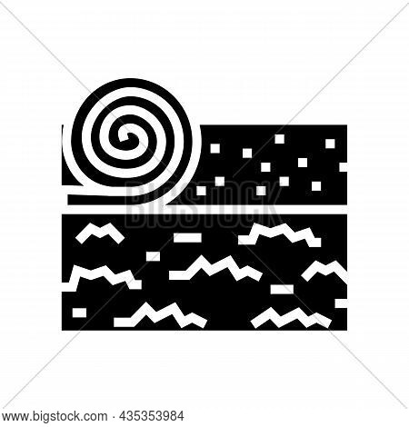 Lawn Installation Glyph Icon Vector. Lawn Installation Sign. Isolated Contour Symbol Black Illustrat