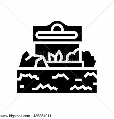 Commercial Landscape Glyph Icon Vector. Commercial Landscape Sign. Isolated Contour Symbol Black Ill