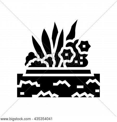 Plant Installation Glyph Icon Vector. Plant Installation Sign. Isolated Contour Symbol Black Illustr