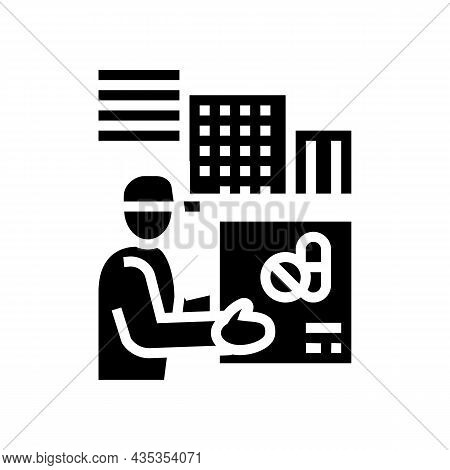 Drug Delivery Glyph Icon Vector. Drug Delivery Sign. Isolated Contour Symbol Black Illustration