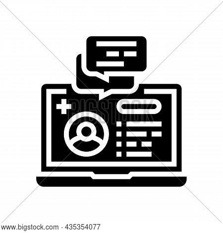 Remote Consultation Glyph Icon Vector. Remote Consultation Sign. Isolated Contour Symbol Black Illus