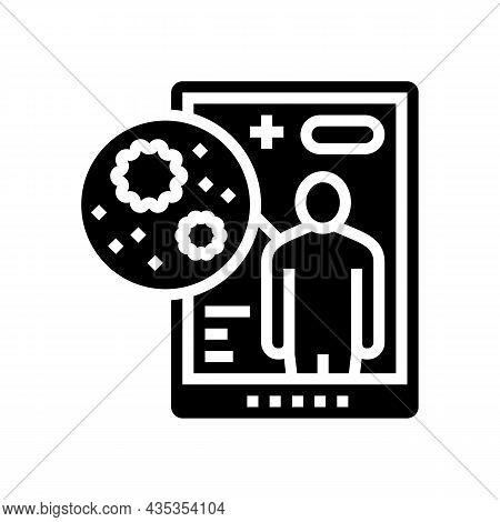 Electronic Ehealth Glyph Icon Vector. Electronic Ehealth Sign. Isolated Contour Symbol Black Illustr