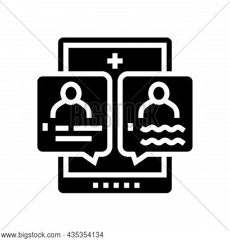 Second Opinion Glyph Icon Vector. Second Opinion Sign. Isolated Contour Symbol Black Illustration