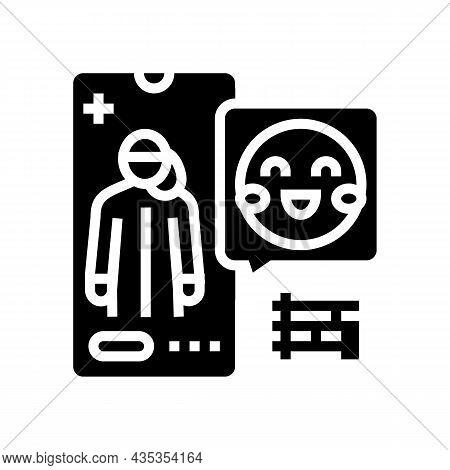 Pediatrician Consultation Glyph Icon Vector. Pediatrician Consultation Sign. Isolated Contour Symbol