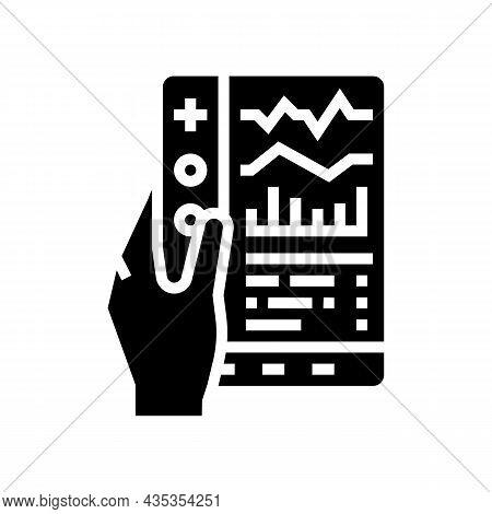 Remote Health Care Glyph Icon Vector. Remote Health Care Sign. Isolated Contour Symbol Black Illustr