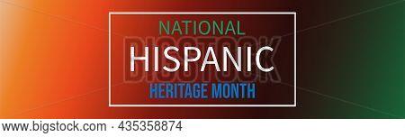 Hispanic Heritage Month Horizontal Banner. Vector Background