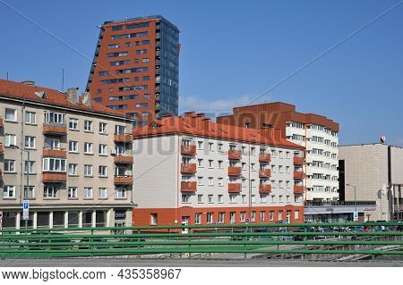 Klaipeda, Lithuania - October 02: Old Town Architecture At October 02, 2021 In Klaipeda, Lithuania