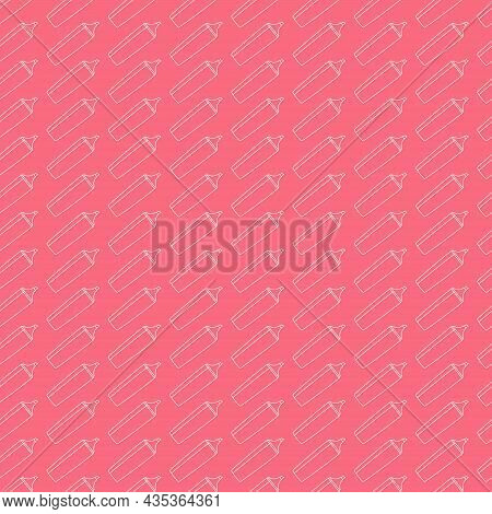 Seamless School Pattern With Markers. Felt Pen. Linear Geometric Texture. Simple Background For Scra