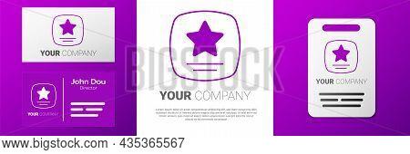 Logotype Walk Of Fame Star On Celebrity Boulevard Icon Isolated On White Background. Hollywood, Famo