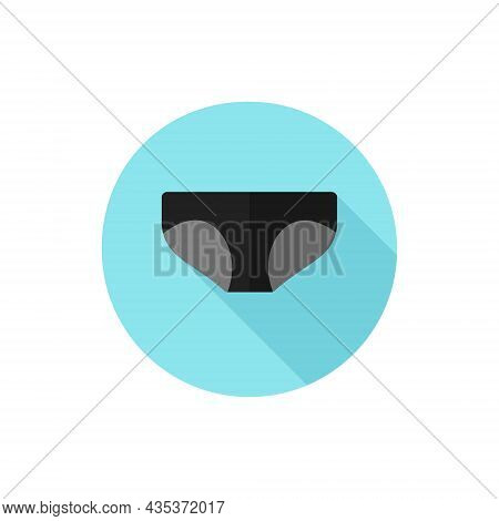 Flat Design. Vector Illustration Panties Simple Icon