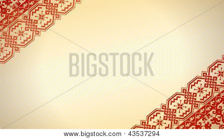 Ethnic fabric of Russian-style