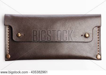 Brown Long Leather Wallet