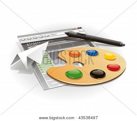 Palette and tablet pen