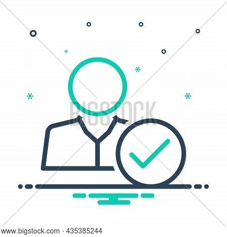 Mix Icon For Attendance Presence Appearance Checking Being-there Impendence