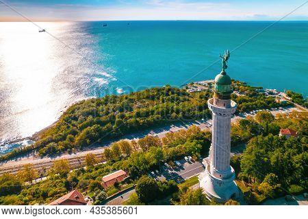 Trieste Lighthouse Vittoria Aerial View, Friuli Venezia Giulia Region Of Italy