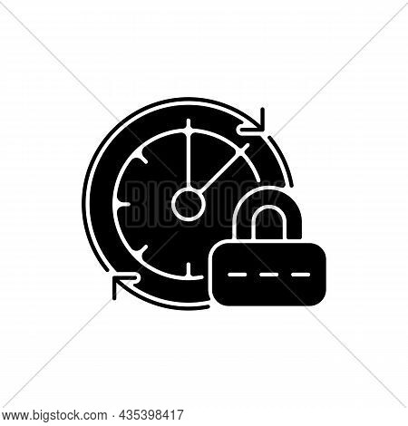 Change Password Black Glyph Icon. Data Protection. Internet Safety Measures. Firewall Settings. Syst
