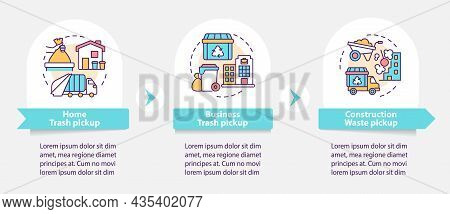 Waste Collection And Pickup Vector Infographic Template. Presentation Outline Design Elements. Data