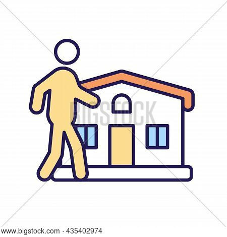Property Owner Rgb Color Icon. Family House. Home Residents. Secure And Safe Dwelling. Friendly Neig