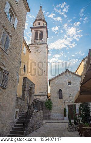 Belfry Of Saint John Church Symbol Of Budva. Church Saint John, With Images And Icons Of Venetian On