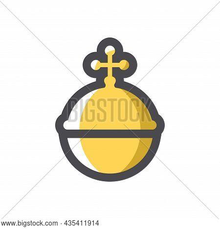 Royal Golden Orb Vector Icon Cartoon Illustration