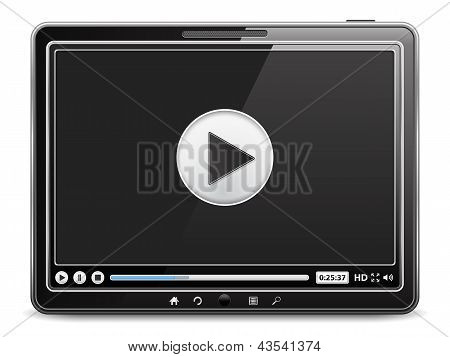 Tablet computer with video player