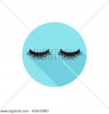 Vector Flat Design Fake Eyelashes. Vector Illustration