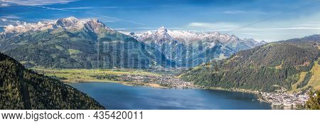 The Panorama With Kitzsteinhorn(tauern Alps) And Zell Am See In The Zell Am See-kaprun Region, Austr