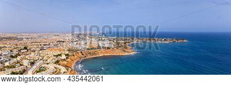 Aerial View Horizontal Image Dehesa De Campoamor On The Costa Blanca Of Spanish Tourist Resort, Sand