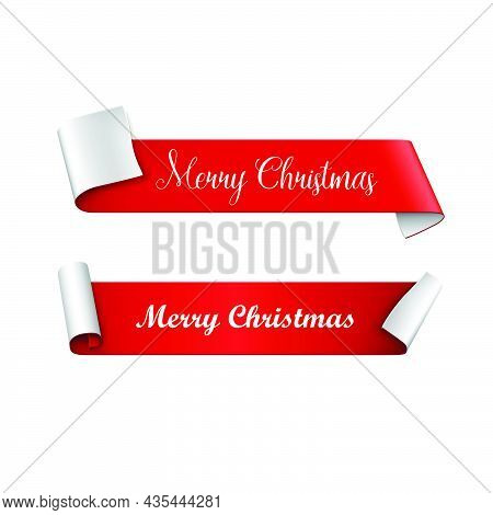Christmas. Christmas Banners. Christmas Vector. Merry Christmas And Happy New Year Text And Label Ve