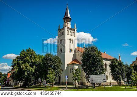 Bolkow, Poland - August 08, 2021. The Former Evangelical Church Of Holy Trinity