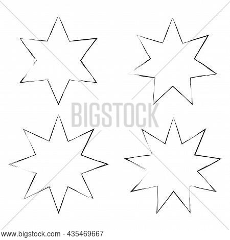 Polygonal Forms Silhouette Icon. Geometric Figure. Basic Math Element. School Education. Vector Illu