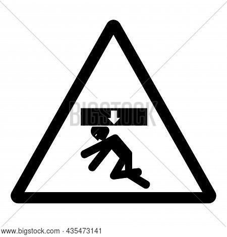 Body Crush Force From Above Symbol Sign, Vector Illustration, Isolate On White Background Label .eps