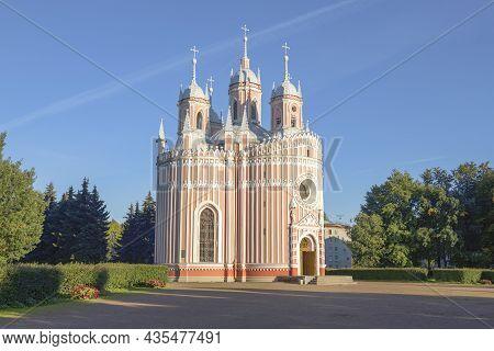 Church Of The Nativity Of St. John The Baptist (chesme Church) On A Sunny September Evening. Saint-p