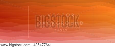 Abstract Waves Fluid Shape Levels Background Bright Color Gradient. Trendy Template For Brochure Bus